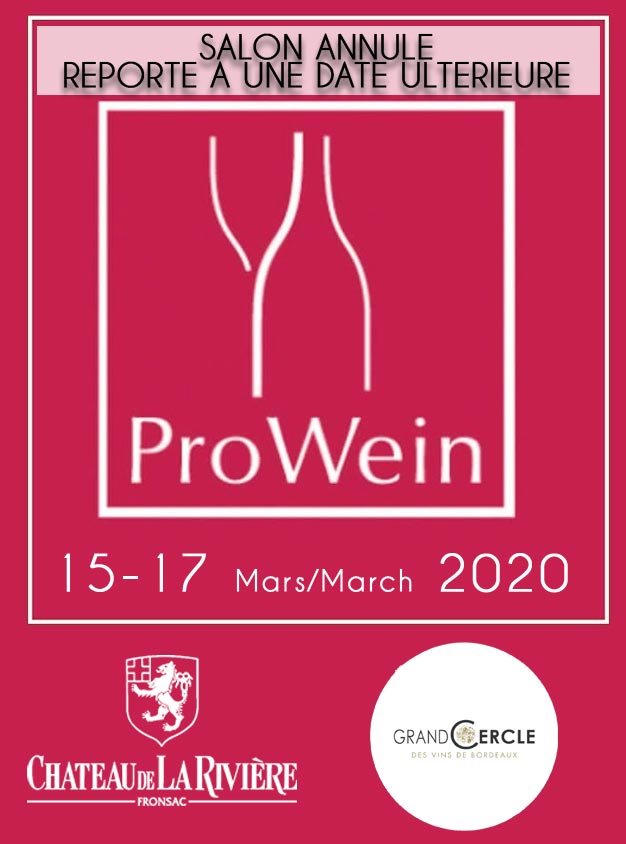 <center>Tasting in Prowein at Dusseldorf – Grand Cercle 15th, 16th & 17th of march 2020</center>