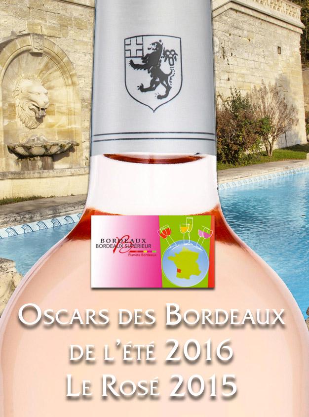 Palmarès Oscars des Bordeaux de l'été 2016
