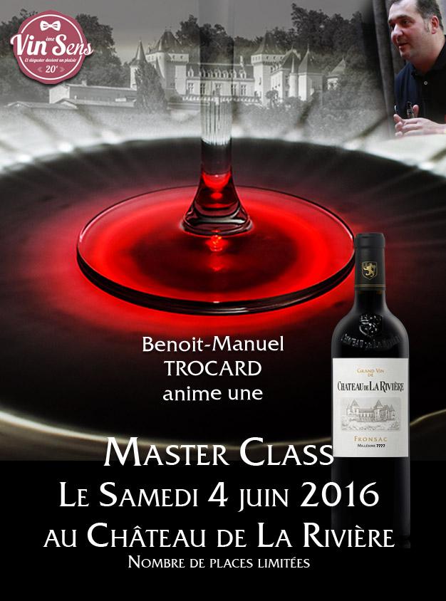 Master Class le 4 juin au Château de La Rivière