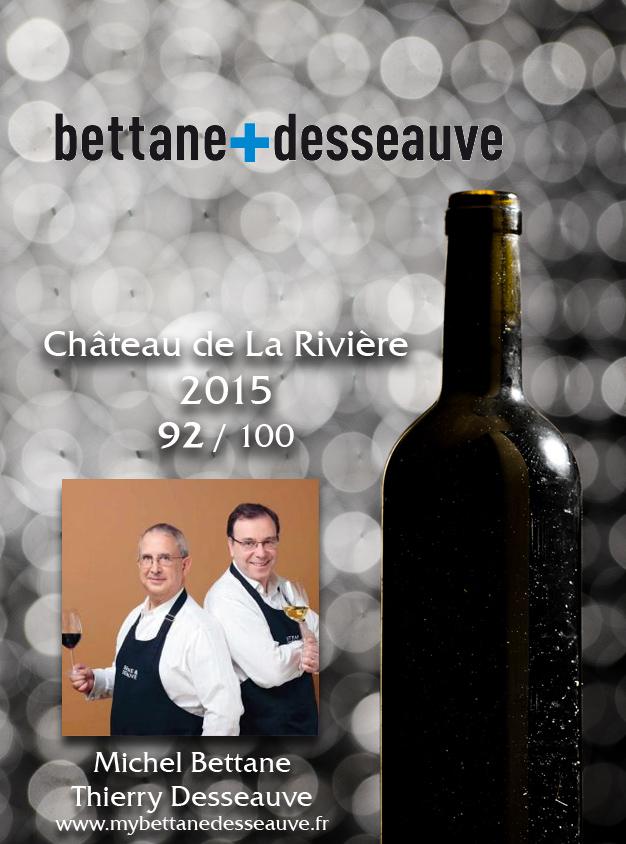 Michel Bettane & Thierry Desseauve Millésime 2015 92/100