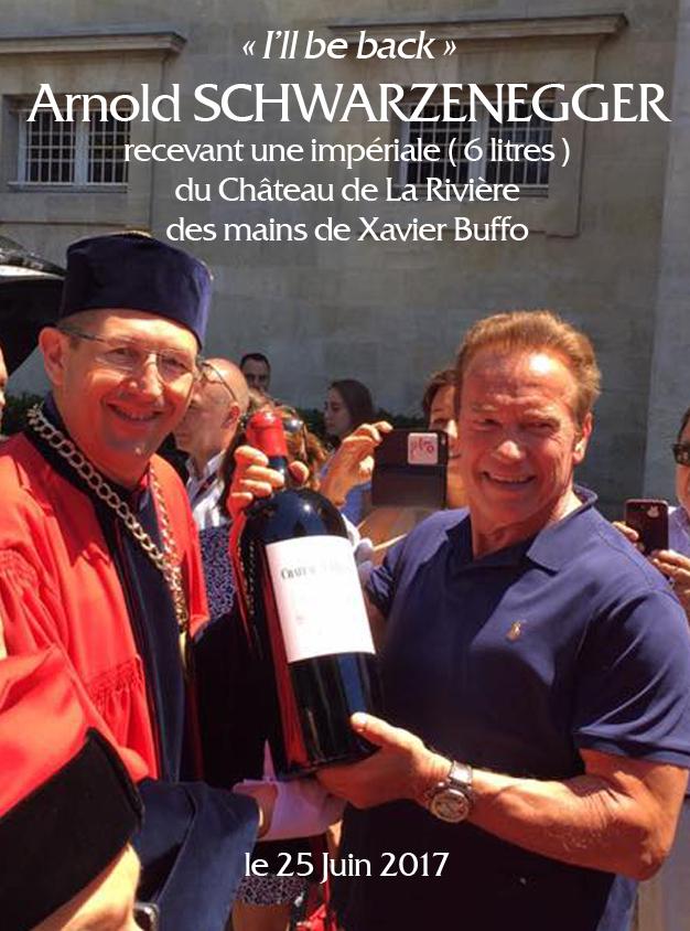 Arnold Schwarzenegger à Libourne Fête le Vin