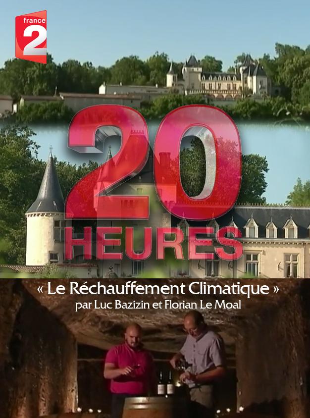 Réchauffement climatique sur France 2 Journal de 20h