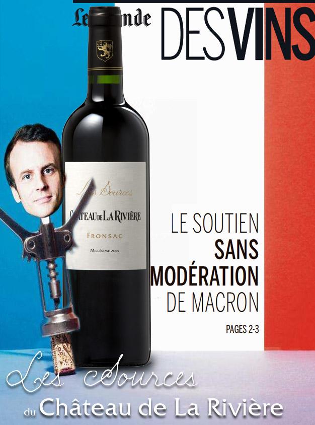Le Monde du Vin – Soutien de Macron sans modération