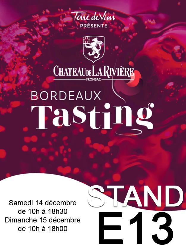 <center>Bordeaux Tasting 2019 les 14 & 15 décembre Palais de La Bourse</center>