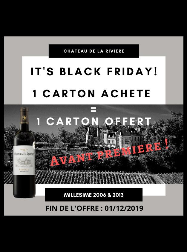 <center>Black – Friday au Château de La Rivière</center>