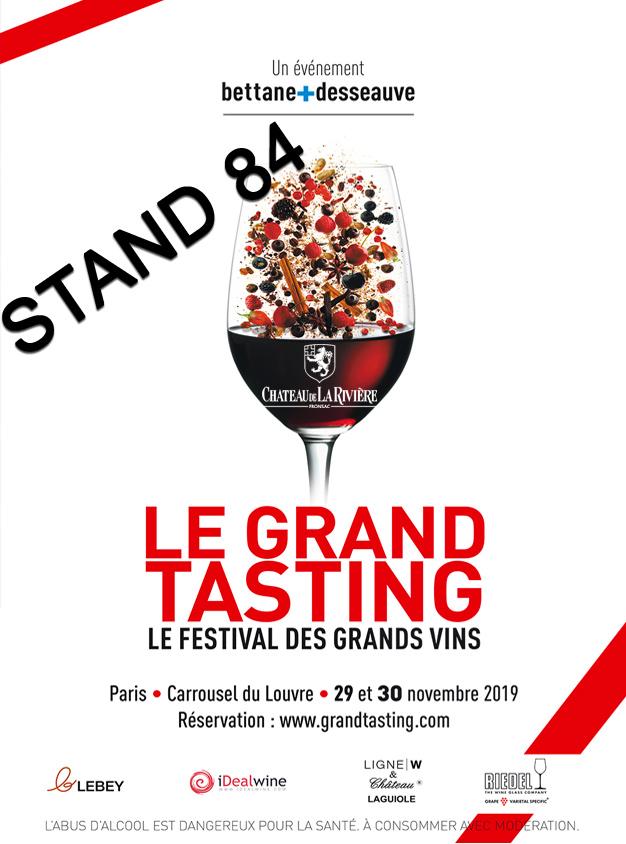 Le Grand Tasting 2019 ->29 et 30 novembre Carrousel du Louvres