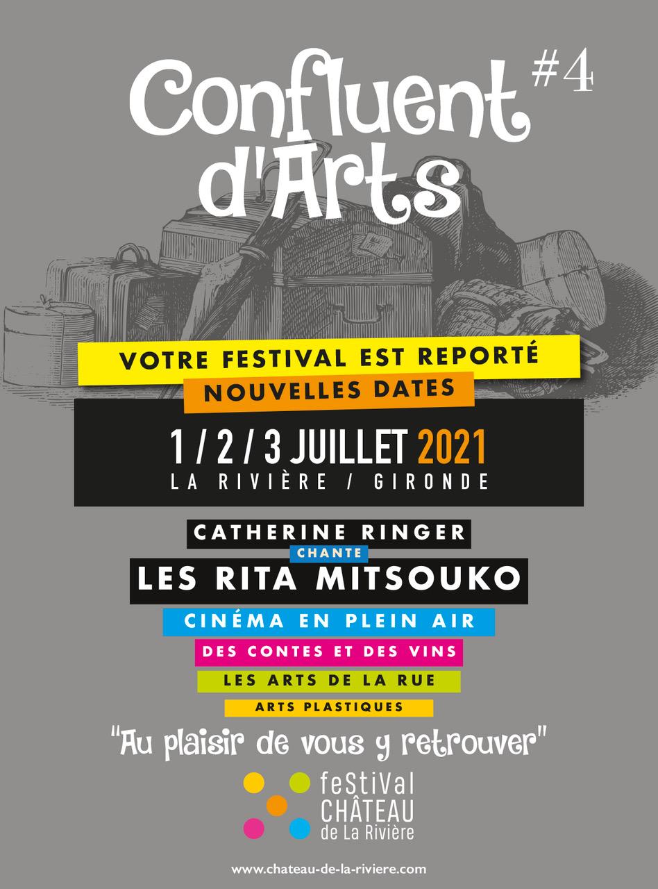 <center>le Festival Confluent d'Arts repoussé à 2021 aux dates : 1er, 2 et 3 Juillet</center>